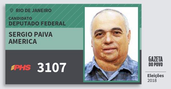 Santinho Sergio Paiva America 3107 (PHS) Deputado Federal | Rio de Janeiro | Eleições 2018