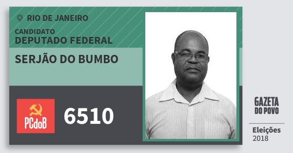 Santinho Serjão do Bumbo 6510 (PC do B) Deputado Federal   Rio de Janeiro   Eleições 2018