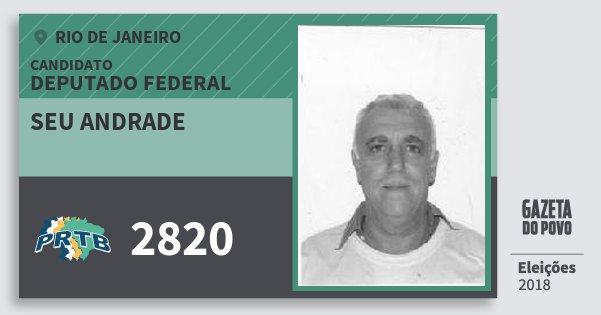 Santinho Seu Andrade 2820 (PRTB) Deputado Federal | Rio de Janeiro | Eleições 2018