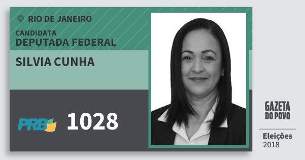 Santinho Silvia Cunha 1028 (PRB) Deputada Federal | Rio de Janeiro | Eleições 2018