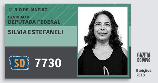Santinho Silvia Estefaneli 7730 (SOLIDARIEDADE) Deputada Federal | Rio de Janeiro | Eleições 2018