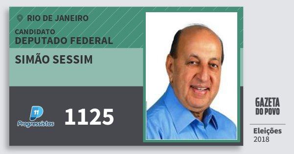 Santinho Simão Sessim 1125 (PP) Deputado Federal | Rio de Janeiro | Eleições 2018