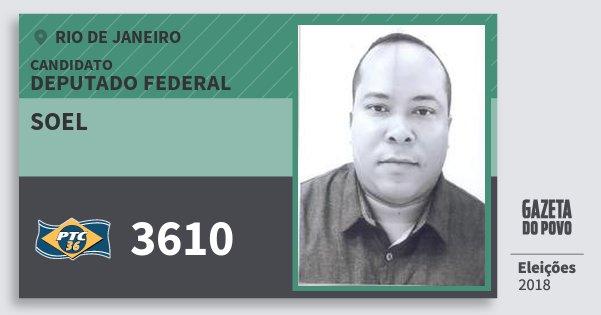 Santinho Soel 3610 (PTC) Deputado Federal | Rio de Janeiro | Eleições 2018
