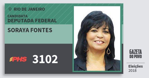 Santinho Soraya Fontes 3102 (PHS) Deputada Federal | Rio de Janeiro | Eleições 2018