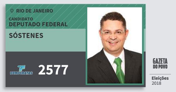 Santinho Sóstenes 2577 (DEM) Deputado Federal | Rio de Janeiro | Eleições 2018