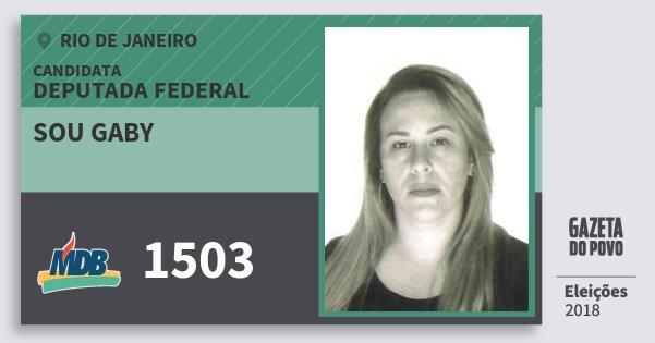 Santinho Sou Gaby 1503 (MDB) Deputada Federal | Rio de Janeiro | Eleições 2018