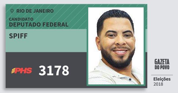 Santinho Spiff 3178 (PHS) Deputado Federal | Rio de Janeiro | Eleições 2018