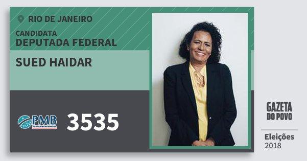Santinho Sued Haidar 3535 (PMB) Deputada Federal | Rio de Janeiro | Eleições 2018