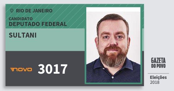 Santinho Sultani 3017 (NOVO) Deputado Federal | Rio de Janeiro | Eleições 2018