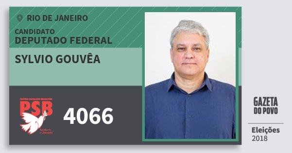 Santinho Sylvio Gouvêa 4066 (PSB) Deputado Federal | Rio de Janeiro | Eleições 2018