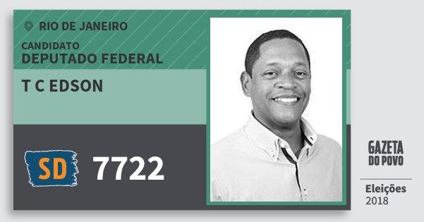 Santinho T C Edson 7722 (SOLIDARIEDADE) Deputado Federal | Rio de Janeiro | Eleições 2018