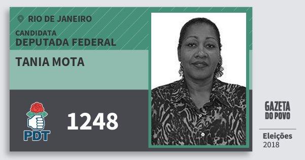 Santinho Tania Mota 1248 (PDT) Deputada Federal | Rio de Janeiro | Eleições 2018