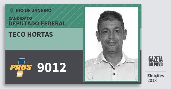 Santinho Teco Hortas 9012 (PROS) Deputado Federal | Rio de Janeiro | Eleições 2018