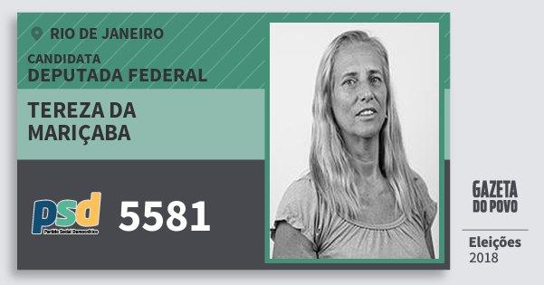 Santinho Tereza da Mariçaba 5581 (PSD) Deputada Federal | Rio de Janeiro | Eleições 2018
