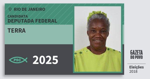 Santinho Terra 2025 (PSC) Deputada Federal | Rio de Janeiro | Eleições 2018