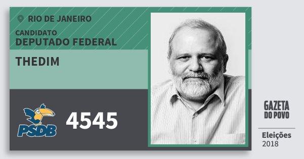 Santinho Thedim 4545 (PSDB) Deputado Federal | Rio de Janeiro | Eleições 2018