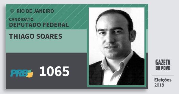 Santinho Thiago Soares 1065 (PRB) Deputado Federal | Rio de Janeiro | Eleições 2018