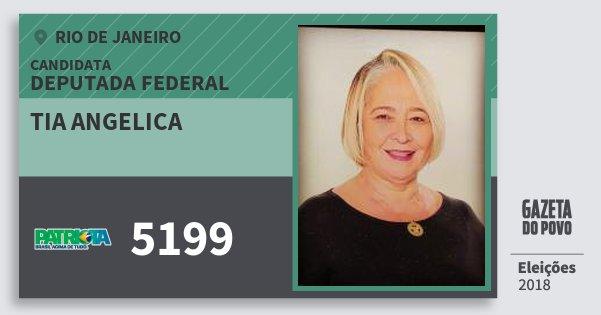 Santinho Tia Angelica 5199 (PATRI) Deputada Federal | Rio de Janeiro | Eleições 2018