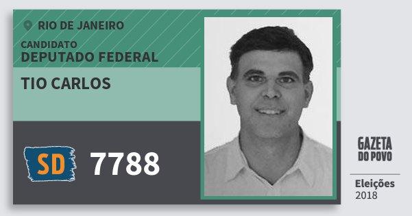 Santinho Tio Carlos 7788 (SOLIDARIEDADE) Deputado Federal | Rio de Janeiro | Eleições 2018