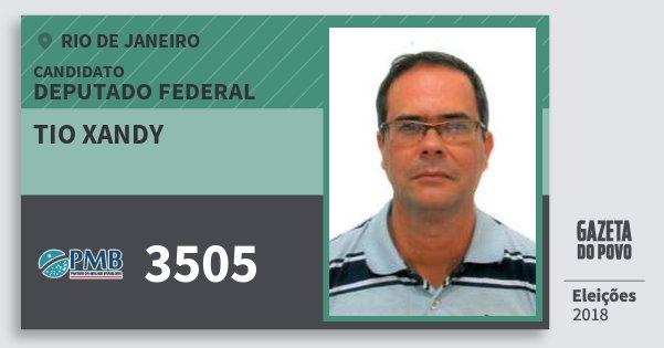 Santinho Tio Xandy 3505 (PMB) Deputado Federal | Rio de Janeiro | Eleições 2018