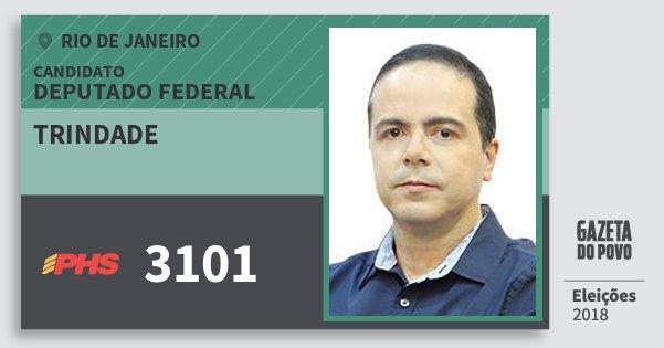 Santinho Trindade 3101 (PHS) Deputado Federal | Rio de Janeiro | Eleições 2018