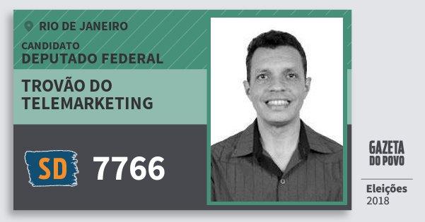 Santinho Trovão do Telemarketing 7766 (SOLIDARIEDADE) Deputado Federal | Rio de Janeiro | Eleições 2018