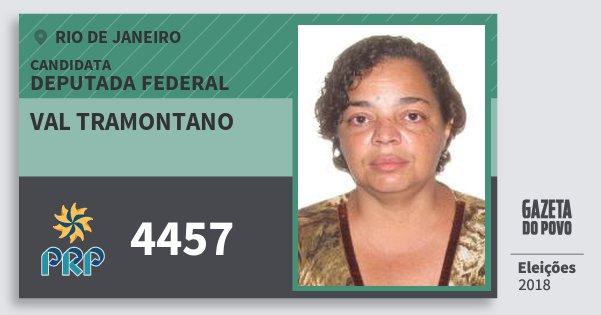 Santinho Val Tramontano 4457 (PRP) Deputada Federal | Rio de Janeiro | Eleições 2018