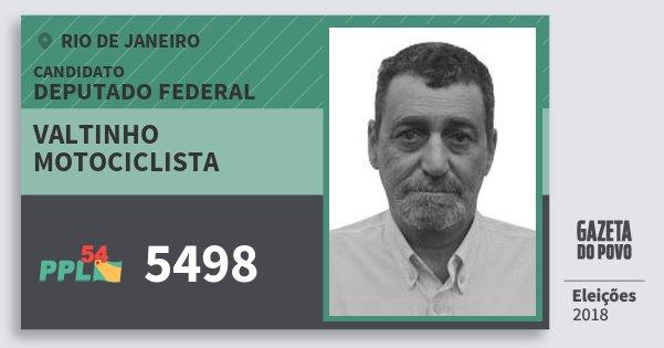 Santinho Valtinho Motociclista 5498 (PPL) Deputado Federal | Rio de Janeiro | Eleições 2018