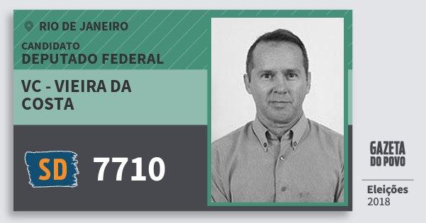 Santinho Vc - Vieira da Costa 7710 (SOLIDARIEDADE) Deputado Federal   Rio de Janeiro   Eleições 2018