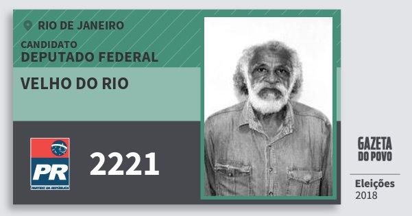 Santinho Velho do Rio 2221 (PR) Deputado Federal | Rio de Janeiro | Eleições 2018