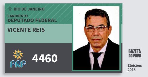 Santinho Vicente Reis 4460 (PRP) Deputado Federal | Rio de Janeiro | Eleições 2018
