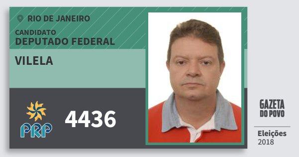 Santinho Vilela 4436 (PRP) Deputado Federal | Rio de Janeiro | Eleições 2018