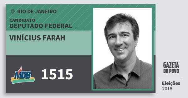 Santinho Vinícius Farah 1515 (MDB) Deputado Federal | Rio de Janeiro | Eleições 2018