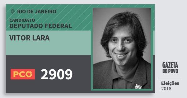 Santinho Vitor Lara 2909 (PCO) Deputado Federal | Rio de Janeiro | Eleições 2018
