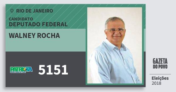 Santinho Walney Rocha 5151 (PATRI) Deputado Federal | Rio de Janeiro | Eleições 2018