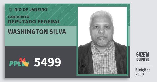 Santinho Washington Silva 5499 (PPL) Deputado Federal | Rio de Janeiro | Eleições 2018