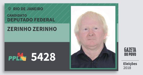 Santinho Zerinho Zerinho 5428 (PPL) Deputado Federal   Rio de Janeiro   Eleições 2018