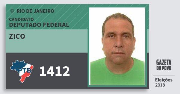 Santinho Zico 1412 (PTB) Deputado Federal | Rio de Janeiro | Eleições 2018