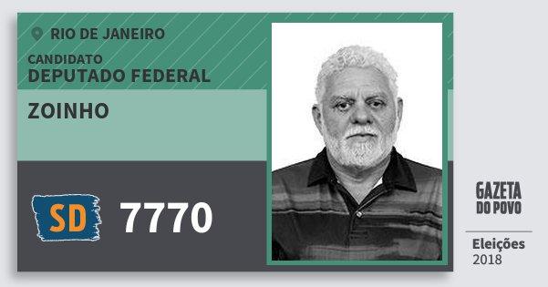Santinho Zoinho 7770 (SOLIDARIEDADE) Deputado Federal | Rio de Janeiro | Eleições 2018