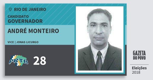 Santinho André Monteiro 28 (PRTB) Governador | Rio de Janeiro | Eleições 2018