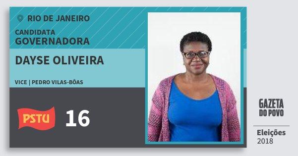 Santinho Dayse Oliveira 16 (PSTU) Governadora | Rio de Janeiro | Eleições 2018