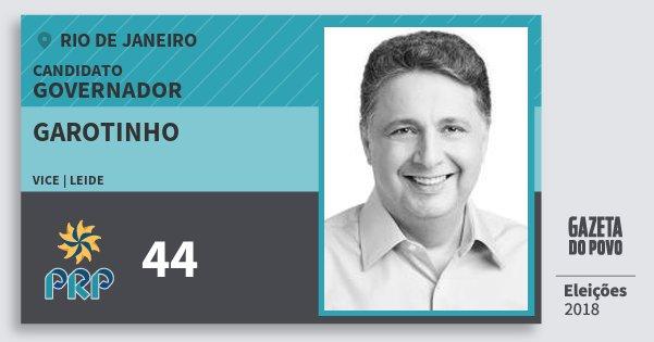 Santinho Garotinho 44 (PRP) Governador | Rio de Janeiro | Eleições 2018