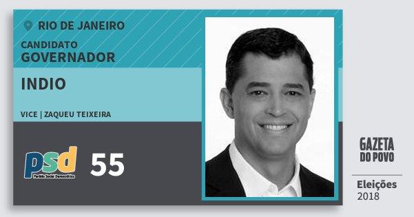 Santinho Indio 55 (PSD) Governador | Rio de Janeiro | Eleições 2018