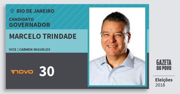 Santinho Marcelo Trindade 30 (NOVO) Governador | Rio de Janeiro | Eleições 2018
