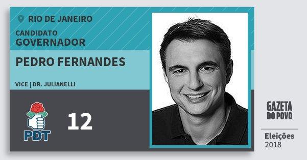 Santinho Pedro Fernandes 12 (PDT) Governador | Rio de Janeiro | Eleições 2018