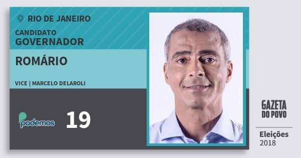Santinho Romário 19 (PODE) Governador | Rio de Janeiro | Eleições 2018