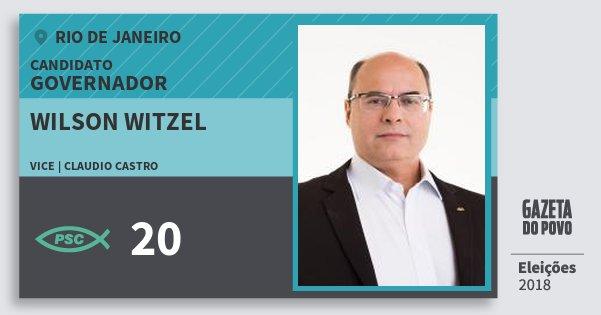 a079694298 Santinho Wilson Witzel 20 (PSC) Governador