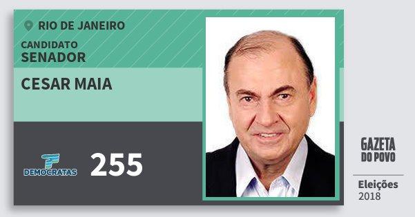 Santinho Cesar Maia 255 (DEM) Senador | Rio de Janeiro | Eleições 2018