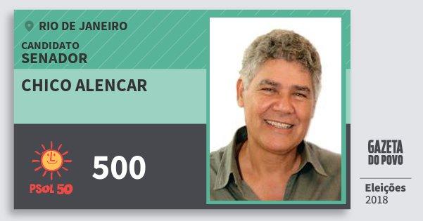 Santinho Chico Alencar 500 (PSOL) Senador | Rio de Janeiro | Eleições 2018