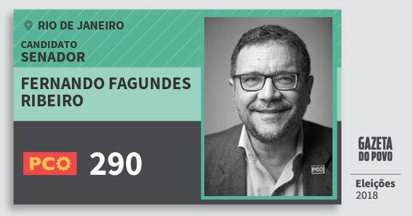Santinho Fernando Fagundes Ribeiro 290 (PCO) Senador | Rio de Janeiro | Eleições 2018